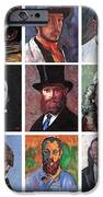 Artist Portraits Mosaic IPhone Case by Tom Roderick