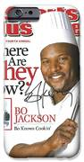 Autographed Sports Illustrated Cover By Bo Jackson Bo Knows Cookin' IPhone Case by Desiderata Gallery