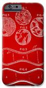 Baseball Construction Patent - Red IPhone Case by Nikki Marie Smith