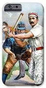 Baseball Player At Bat IPhone Case by Unknown