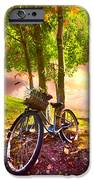 Bicycle Under The Tree IPhone Case by Debra and Dave Vanderlaan
