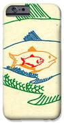Big Fish Eat Little Fish IPhone Case by