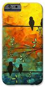 Birds Of A Feather Original Whimsical Painting IPhone Case by Megan Duncanson