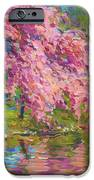Blossoming Trees Landscape  IPhone Case by Svetlana Novikova