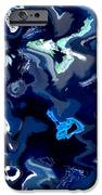 Blue And Turquoise Abstract IPhone Case by Carol Groenen