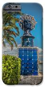 Blue Crown Statue Miami Downtown IPhone Case by Ian Monk