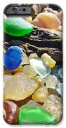 Blue Green Seaglass Art Prinst Agates Shells IPhone Case by Baslee Troutman