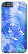 Blue Twirl Abstract IPhone Case by Ann Powell