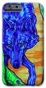 Blue Wolf IPhone Case by Derrick Higgins