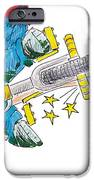 Bmx Drawing Peg Grind IPhone Case by Mike Jory