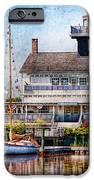 Boat - Tuckerton Seaport - Tuckerton Lighthouse IPhone Case by Mike Savad