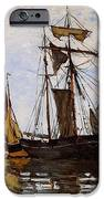 Boats In The Port Of Honfleur IPhone Case by L Brown