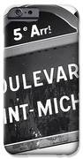 Boulevard Saint-michel IPhone Case by John Rizzuto