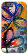 Bright Abstract Flowers IPhone Case by Linda Woods