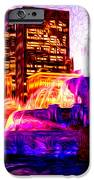 Buckingham Fountain At Night Digital Painting IPhone Case by Paul Velgos