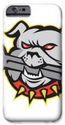 Bulldog Dog Spanner Head Mascot IPhone Case by Aloysius Patrimonio