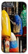 Buoys From Russell's Lobsters IPhone Case by Lois Bryan
