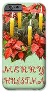 California Cactus Christmas IPhone Case by Mary Helmreich