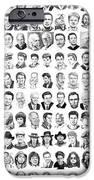 Celebrity Drawings IPhone Case by Murphy Elliott