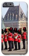 Changing Of The Guard The Citadel Quebec City IPhone Case by Edward Fielding