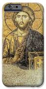 Christ Pantocrator-detail Of Deesis Mosaic Hagia Sophia-judgement Day IPhone Case by Urft Valley Art