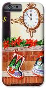 Christmas Card IPhone Case by Irina Sztukowski