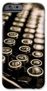 Close Up Vintage Typewriter IPhone Case by Edward Fielding