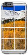 Colorado Rocky Mountain Autumn Pass White Window View  IPhone Case by James BO  Insogna