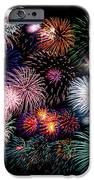 Colorful Fireworks Of Various Colors In Night Sky IPhone Case by Stephan Pietzko