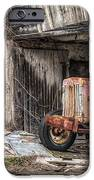 Comfortable Chaos - Old Tractor At Rest - Agricultural Machinary - Old Barn IPhone Case by Gary Heller