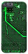 Computer Circuit Board IPhone Case by Olivier Le Queinec