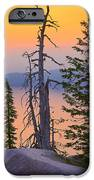 Crater Lake Trees IPhone Case by Inge Johnsson