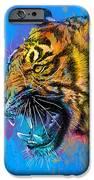 Crazy Tiger IPhone Case by Olga Shvartsur