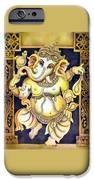 Dancing Ganesh IPhone Case by Vishwajyoti Mohrhoff