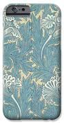 Design In Turquoise IPhone Case by William Morris