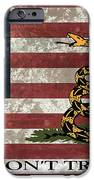 Do Not Tread On Us Flag IPhone Case by Daniel Hagerman