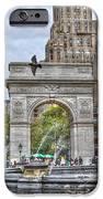 Dog Walking At Washington Square Park IPhone Case by Randy Aveille