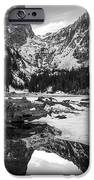 Dream Lake Reflection Black And White IPhone Case by Aaron Spong