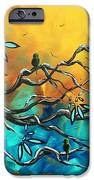 Dream Watchers Original Abstract Bird Painting IPhone Case by Megan Duncanson