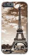 Eiffel Tower In Sepia IPhone Case by Elena Elisseeva