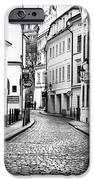 Empty Street In Prague IPhone Case by John Rizzuto
