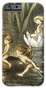 Fairies And Water Lilies Circa 1870 IPhone Case by Richard Doyle
