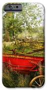 Farm - Tool - A Rusty Old Wagon IPhone Case by Mike Savad