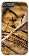 Feather And Sand IPhone Case by Raimond Klavins