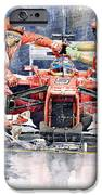 Ferrari F 2012 Fernando Alonso Pit Stop IPhone Case by Yuriy  Shevchuk