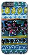 Fiesta In Blues- Abstract Pattern Painting IPhone Case by Linda Woods