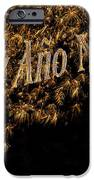 Fireworks Feliz Ano Nuevo In Elegant Gold And Black IPhone Case by Marianne Campolongo