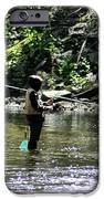 Fishing The Wissahickon IPhone Case by Bill Cannon