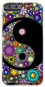 Floral Yin Yang IPhone Case by Tim Gainey