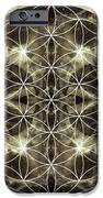 Flower Of Life Silver IPhone Case by Filippo B